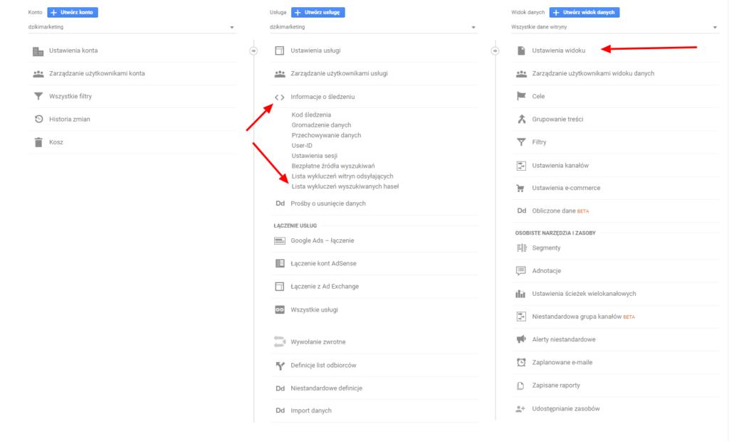 Lista wykluczeń wyszukiwanych haseł