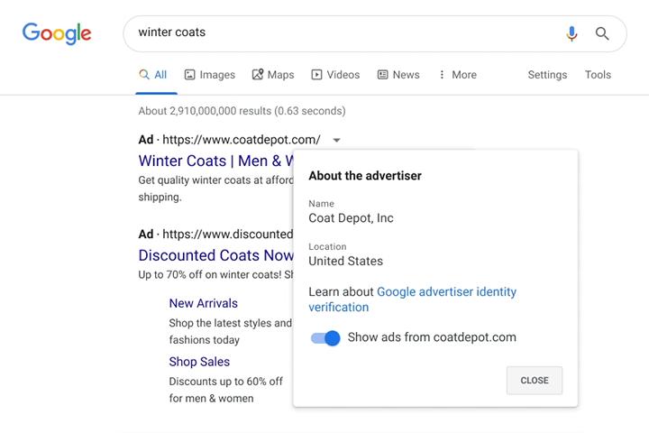 Obowiązkowa weryfikacja reklamodawców w Google