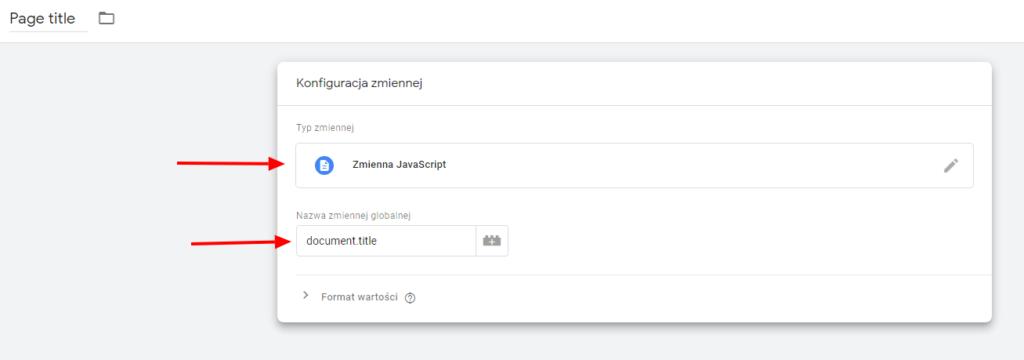 Tworzenie zmiennej sprawdzającej nazwę strony